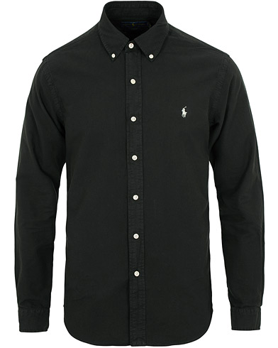 Polo Ralph Lauren Slim Fit Garment Dyed Oxford Shirt Black i gruppen Kläder / Skjortor / Casual / Oxfordskjortor hos Care of Carl (15283411r)