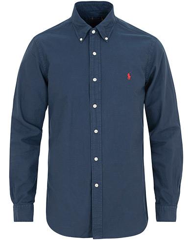 Polo Ralph Lauren Core Fit Garment Dyed Oxford Shirt Navy i gruppen Kläder / Skjortor / Casual / Oxfordskjortor hos Care of Carl (15284011r)