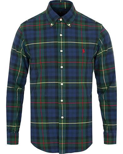 Polo Ralph Lauren Slim Fit Check Shirt Navy/Pine Green i gruppen Klær / Skjorter / Casual / Casual skjorter hos Care of Carl (15284411r)