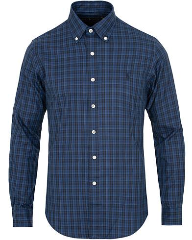 Polo Ralph Lauren Slim Fit Twill Micro Check Shirt Dawn Blue/Black i gruppen Klær / Skjorter / Casual / Casual skjorter hos Care of Carl (15285511r)