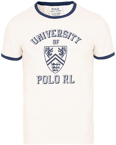 Polo Ralph Lauren University Crew Neck Tee White i gruppen Kläder / T-Shirts / Kortärmade t-shirts hos Care of Carl (15287711r)
