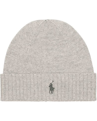Polo Ralph Lauren Merino Cap Fawn Grey Heather  i gruppen Accessoarer / Mössor hos Care of Carl (15287910)