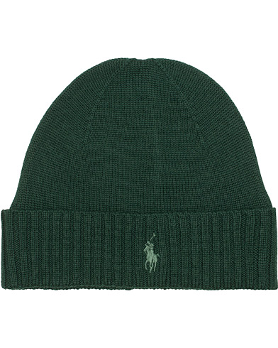 Polo Ralph Lauren Merino Cap College Green  i gruppen Accessoarer / Mössor hos Care of Carl (15288310)