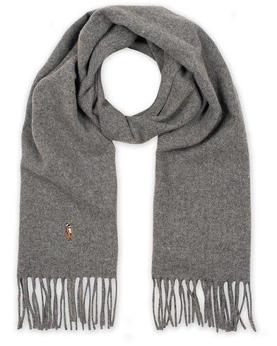 Polo Ralph Lauren Signature Scarf Fawn Grey Heather i gruppen Tilbehør / Halstørklæder hos Care of Carl (15288910)