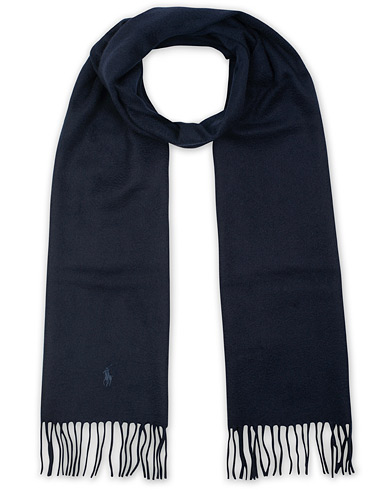 Polo Ralph Lauren Cashmere Scarf Hunter Navy  i gruppen Assesoarer / Skjerf hos Care of Carl (15289110)