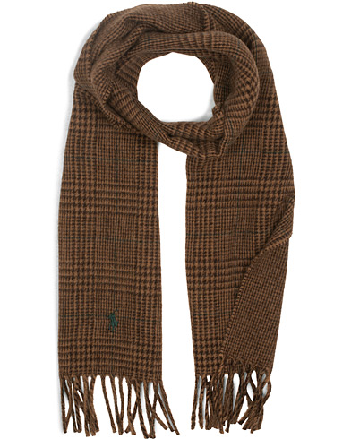 Polo Ralph Lauren Wool Reversible Check Scarf Camel/Alpine Brown  i gruppen Assesoarer / Skjerf hos Care of Carl (15289410)