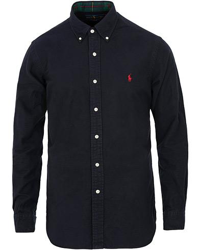 Polo Ralph Lauren Slim Fit Flannel Shirt Navy i gruppen Klær / Skjorter / Casual / Flanellskjorter hos Care of Carl (15290711r)