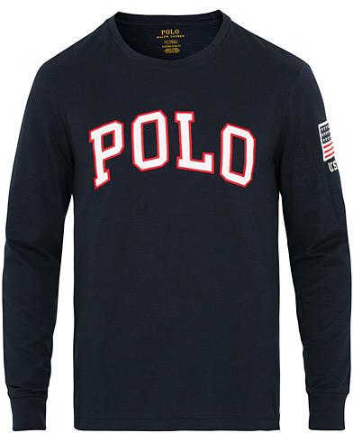 Polo Ralph Lauren Polo Long Sleeve Crew Neck Tee Navy i gruppen Klær / T-Shirts / Langermede t-shirts hos Care of Carl (15291611r)