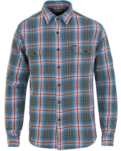 Polo Ralph Lauren Western Flannel Shirt Blue/Red i gruppen Tøj / Skjorter / Casual / Flannelskjorter hos Care of Carl (15297211r)