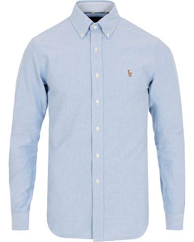 Polo Ralph Lauren Slim Fit Contrast Oxford Shirt Blue i gruppen Tøj / Skjorter / Oxfordskjorter hos Care of Carl (15299311r)