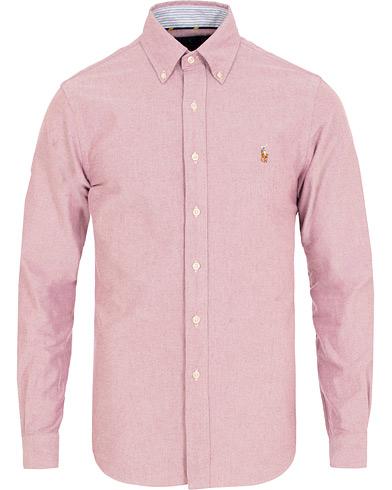 Polo Ralph Lauren Slim Fit Contrast Oxford Shirt Crimson i gruppen Klær / Skjorter / Casual / Oxfordskjorter hos Care of Carl (15299511r)