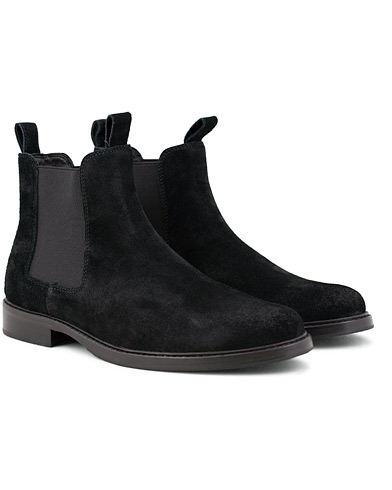 Polo Ralph Lauren Normanton Suede Chelsea Boot Black i gruppen Sko / Støvler / Chelsea boots hos Care of Carl (15301411r)