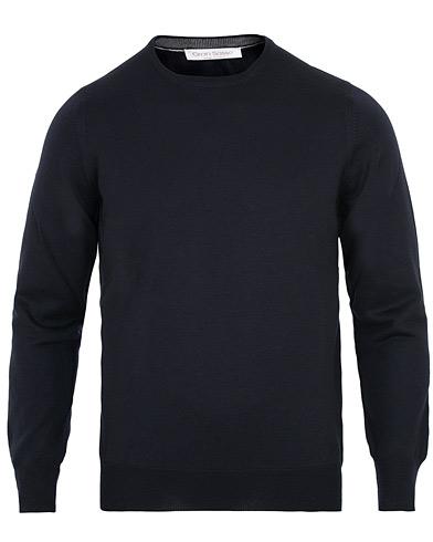 Gran Sasso Merino Fashion Fit Crew Neck Pullover Navy i gruppen Klær / Gensere / Pullovere rund hals hos Care of Carl (15317111r)