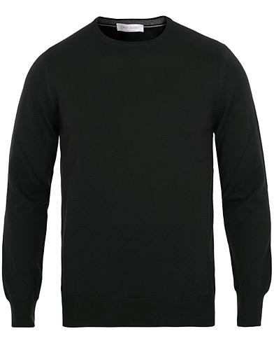 Gran Sasso Merino Fashion Fit Crew Neck Pullover Black i gruppen Kläder / Tröjor / Pullover rundhals hos Care of Carl (15317211r)