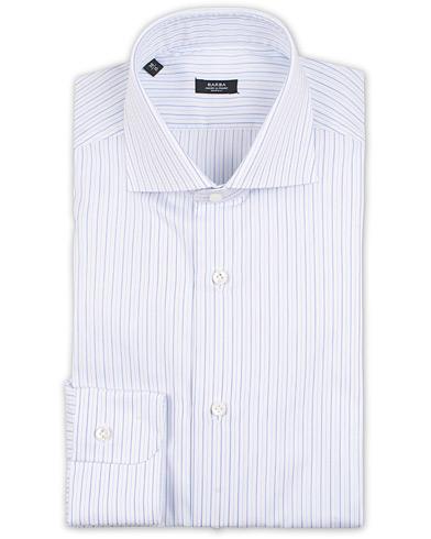 Barba Napoli Slim Fit Thin Stripe Shirt Light Blue i gruppen Klær / Skjorter / Formelle / Businesskjorter hos Care of Carl (15324211r)