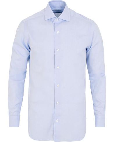 Barba Napoli Culto Slim Fit Microfancy Shirt Light Blue i gruppen Kläder / Skjortor / Casual / Casual skjortor hos Care of Carl (15324411r)