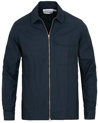 Zip Shirt Tech Twill Navy i gruppen Klær / Skjorter / Casual / Overshirts hos Care of Carl (15335811r)