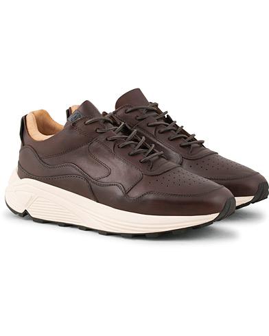 Buttero Vinci Running Sneaker Dark Brown Calf i gruppen Skor / Sneakers / Running sneakers hos Care of Carl (15351111r)