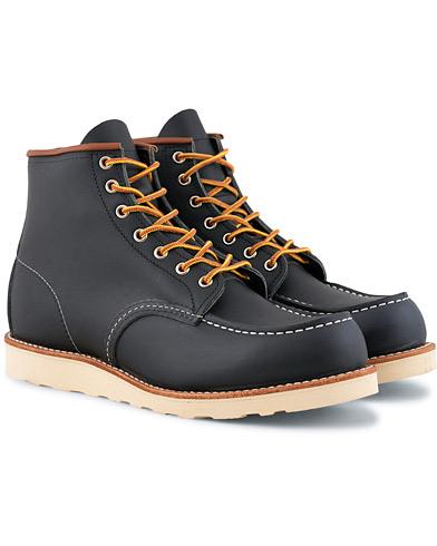Red Wing Shoes Moc Toe Boot Navy Portage Leather i gruppen Skor / Kängor / Snörkängor hos Care of Carl (15351411r)