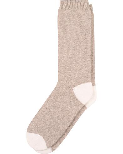 Soft Goat Cashmere Socks Light Taupe i gruppen Klær / Undertøy / Sokker hos Care of Carl (15359711r)