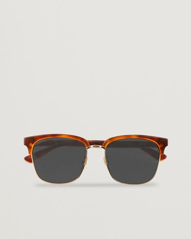 GUCCI GG0382S Sunglasses Havana/Blue  i gruppen Assesoarer / Solbriller / Buede solbriller hos Care of Carl (15400310)