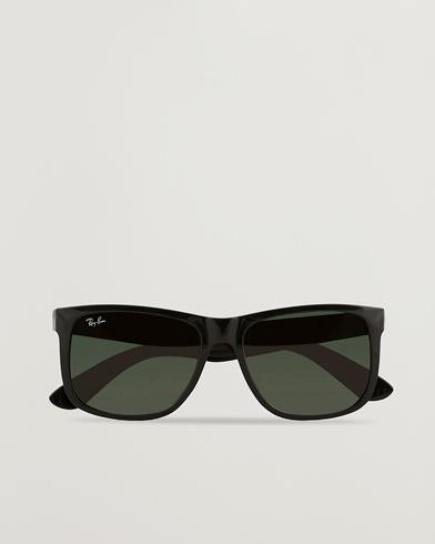 Ray-Ban 0RB4165 Justin Sunglasses Black  i gruppen Assesoarer / Solbriller / Firkantede solbriller hos Care of Carl (15402510)