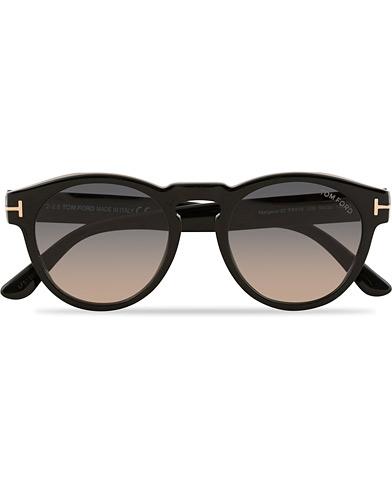 Tom Ford Margaux FT0615 Sunglasses Shiny Black/Smoke  i gruppen Assesoarer / Solbriller / Runde solbriller hos Care of Carl (15404810)