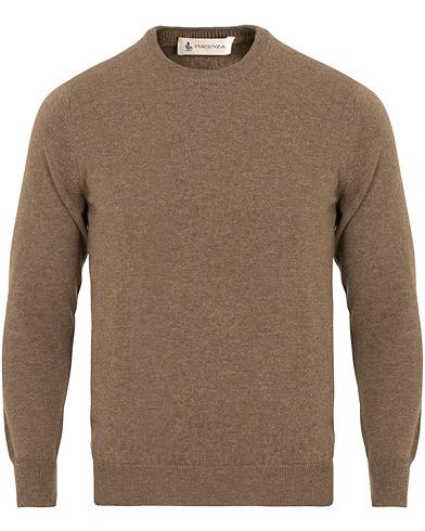 Piacenza Cashmere Cashmere Crew Neck Sweater Brown i gruppen Tøj / Trøjer / Strikkede trøjer hos Care of Carl (15406811r)
