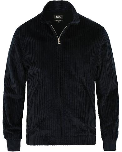 A.P.C Loulou Corduroy Jacket Dark Navy i gruppen Tøj / Jakker / Tynde jakker hos Care of Carl (15408111r)