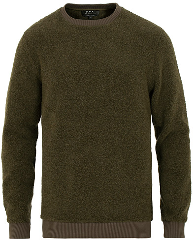 A.P.C Lane Sweatshirt Khaki Militaire i gruppen Klær / Gensere / Sweatshirts hos Care of Carl (15408411r)