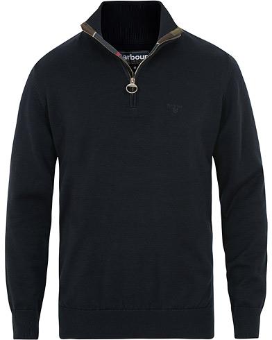 Barbour Lifestyle Cotton Half Zip Navy i gruppen Klær / Gensere / Zip-gensere hos Care of Carl (15414911r)