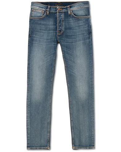 Nudie Jeans Dude Dan Organic Jeans Steel Indigo i gruppen Klær / Jeans hos Care of Carl (15418611r)