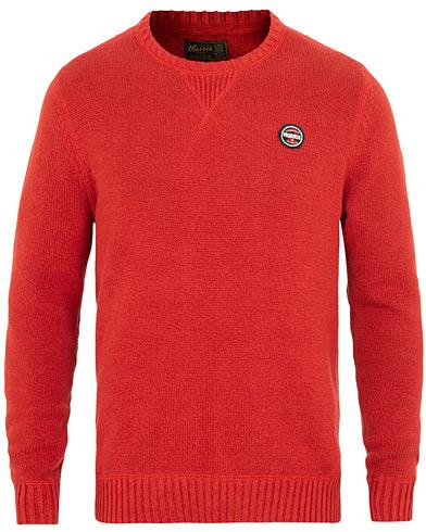 Morris Mclaren Oneck Red i gruppen Klær / Gensere / Strikkede gensere hos Care of Carl (15420111r)