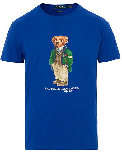 Polo Ralph Lauren Printed Bear Crew Neck Tee Cruise Royal i gruppen Klær / T-Shirts / Kortermede t-shirts hos Care of Carl (15423511r)