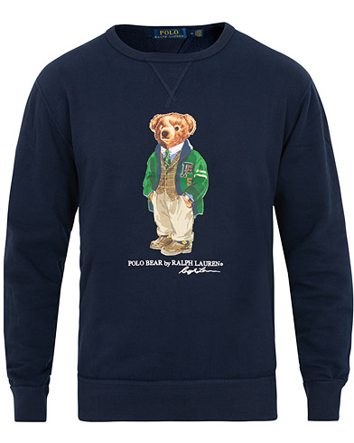 Polo Ralph Lauren Printed Bear Crew Neck Sweatshirt Cruise Royal i gruppen Kläder / Tröjor / Sweatshirts hos Care of Carl (15423911r)