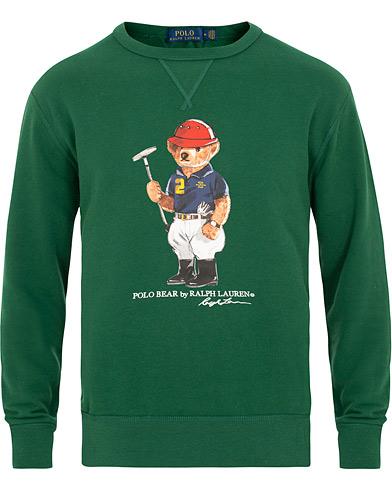 Polo Ralph Lauren Printed Bear Crew Neck Sweatshirt New Forest i gruppen Kläder / Tröjor / Sweatshirts hos Care of Carl (15424011r)