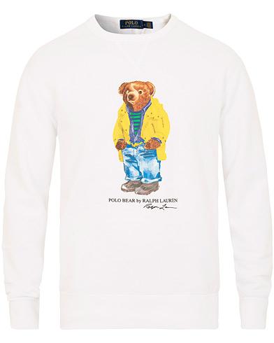 Polo Ralph Lauren Printed Bear Crew Neck Sweatshirt White i gruppen Kläder / Tröjor / Sweatshirts hos Care of Carl (15424111r)