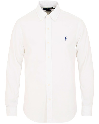 Polo Ralph Lauren Slim Fit Corduroy Shirt White i gruppen Klær / Skjorter / Casual / Casual skjorter hos Care of Carl (15426111r)