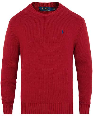 Polo Ralph Lauren Crisby Cotton Crew Neck Samba Red i gruppen Klær / Gensere / Strikkede gensere hos Care of Carl (15430111r)