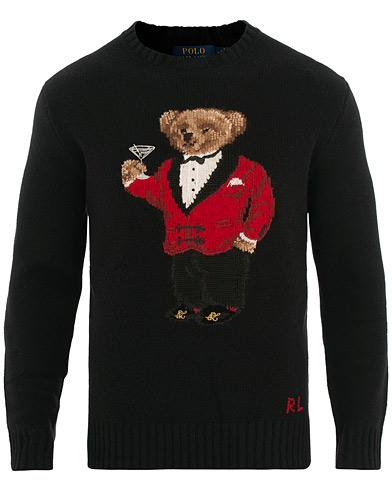 Polo Ralph Lauren Wool/Cashmere Chinese New Years Bear Black i gruppen Kläder / Tröjor / Stickade tröjor hos Care of Carl (15431411r)