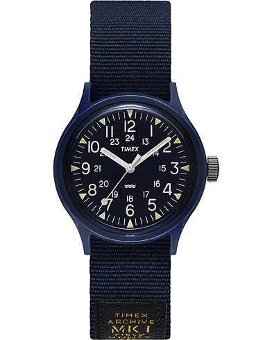 Timex MK1 Camper Resin 36 Military Grossgrain Blue  i gruppen Assesoarer / Klokker hos Care of Carl (15444810)