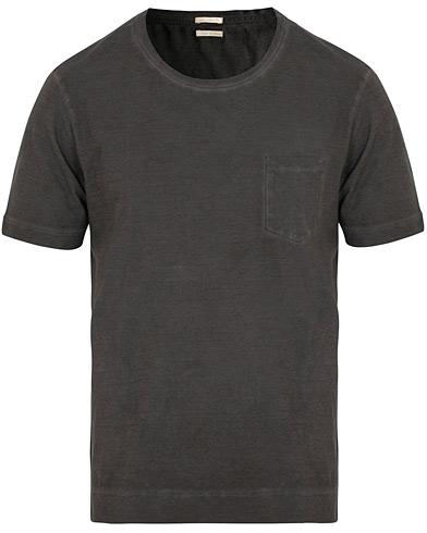 Massimo Alba Panarea Short Sleeve Watercolor T-shirt Grey i gruppen Klær / T-Shirts / Kortermede t-shirts hos Care of Carl (15454611r)