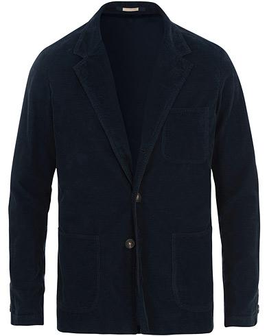 Massimo Alba Baglietto Light Baby Corduroy Jacket Navy Blue i gruppen Klær / Dressjakker / Enkeltspente dressjakker hos Care of Carl (15455411r)