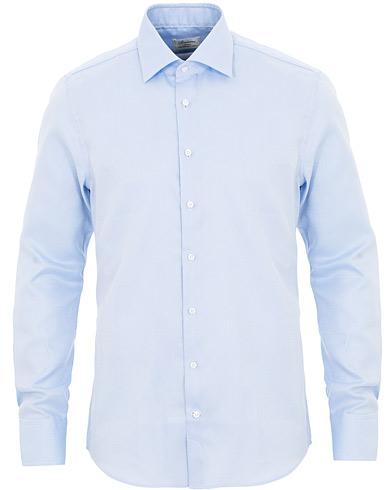 Stenströms Slimline Oxford Shirt Light Blue i gruppen Kläder / Skjortor / Casual / Oxfordskjortor hos Care of Carl (15472011r)
