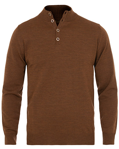 Stenströms Merino Wool Mock Neck Brown i gruppen Klær / Gensere / Strikkede gensere hos Care of Carl (15472711r)