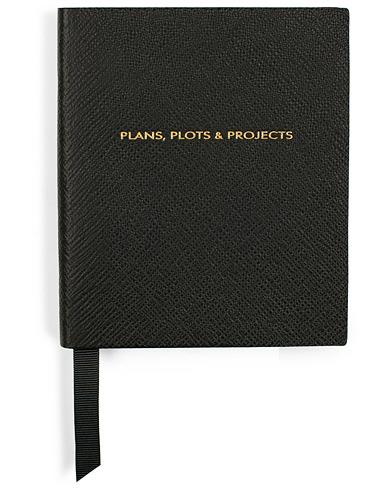 Smythson Premier Notebook Plans, Plots And Projects Black  i gruppen Assesoarer / Penner og notatbøker hos Care of Carl (15475110)