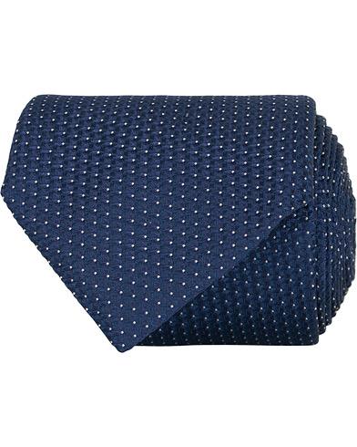 Canali Silk Structured 8 cm Tie Dark Blue  i gruppen Tilbehør / Slips hos Care of Carl (15488910)