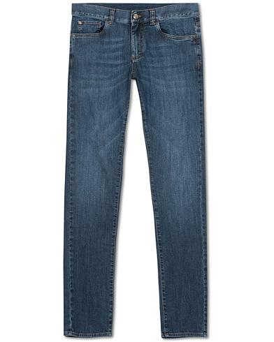 Canali Slim Fit Jeans Dark Wash i gruppen Klær / Jeans hos Care of Carl (15489611r)