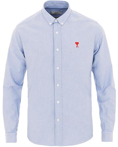 AMI Oxford Shirt Light Blue i gruppen Klær / Skjorter / Casual / Oxfordskjorter hos Care of Carl (15497111r)