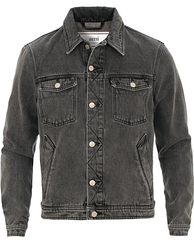 AMI Denim Jacket Washed Grey i gruppen Kläder / Jackor / Jeansjackor hos Care of Carl (15498311r)